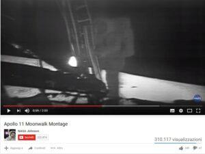 Guarda il video dell'allunaggio