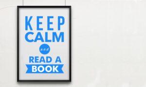 Keep calm read a book